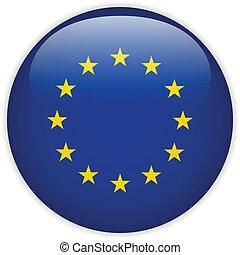 ευρώπη , σημαία , λείος , κουμπί
