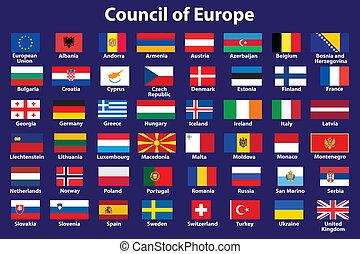 ευρώπη , σημαίες , συμβούλιο