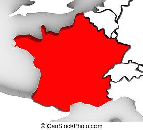 ευρώπη , χάρτηs , εξοχή , αφαιρώ , γαλλία , διευκρίνισα , 3d...