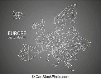 ευρώπη , χάρτηs , μικροβιοφορέας , μαύρο , περίγραμμα