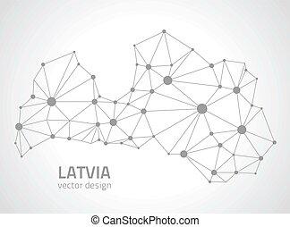 ευρώπη , χάρτηs , μικροβιοφορέας , περίγραμμα , λατβία