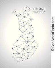 ευρώπη , χάρτηs , περίγραμμα , φινλανδία , γκρί , μικροβιοφορέας