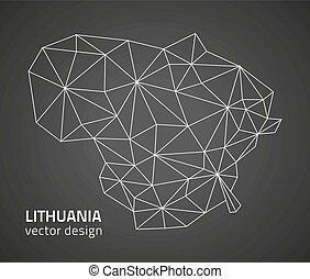 ευρώπη , χάρτηs , περίγραμμα , lithuana, γκρί , μικροβιοφορέας