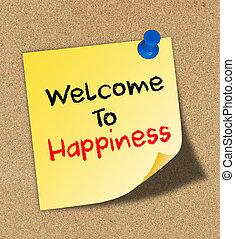 ευτυχία , θετικός , γενική ιδέα , καλωσόρισμα