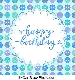ευτυχισμένα γεννέθλια , γράμματα
