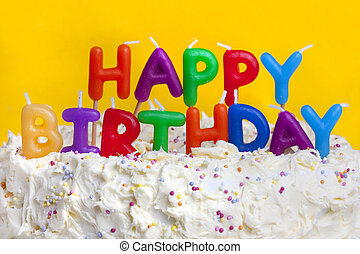 ευτυχισμένα γεννέθλια , κέηκ , με , μήνυμα