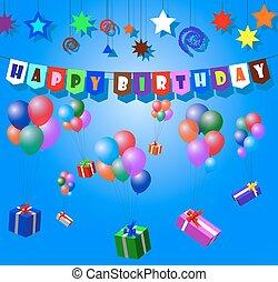 ευτυχισμένα γεννέθλια , με , εδάφιο , και , μπαλόνι