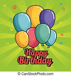 ευτυχισμένα γεννέθλια , μπαλόνι , σχεδιάζω