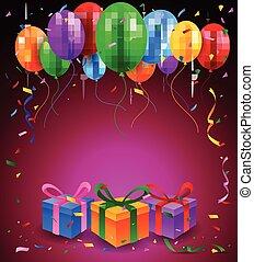 ευτυχισμένα γεννέθλια , πάρτυ , με , μπαλόνι
