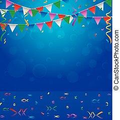 ευτυχισμένα γεννέθλια , πάρτυ , με , τρίγωνο