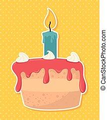 ευτυχισμένα γεννέθλια , σχεδιάζω , μικροβιοφορέας , illustration.