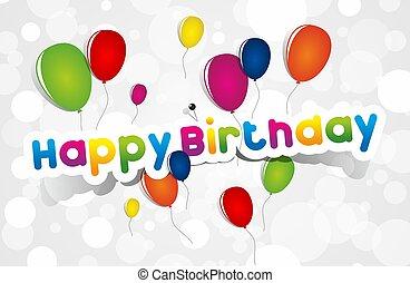 ευτυχισμένα γεννέθλια , χαιρετισμός αγγελία , αναμμένοσ φόντο , μικροβιοφορέας , εικόνα