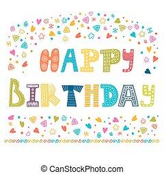 ευτυχισμένα γεννέθλια , χαιρετισμός αγγελία