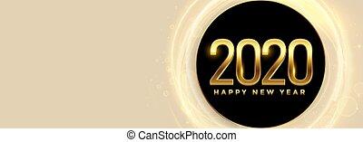 ευτυχισμένος , έτος , καινούργιος , σημαία , εδάφιο , 2020, διάστημα