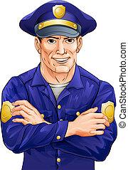 ευτυχισμένος , αστυνομικόs