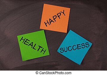 ευτυχισμένος , βλέπω , υγεία , επιτυχία