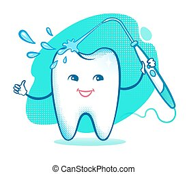 ευτυχισμένος , δόντι , irrigator.