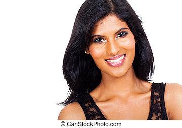 ευτυχισμένος , ινδός , γυναίκα , φράζω