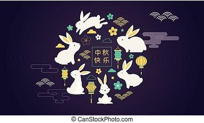 ευτυχισμένος , μεσαίος , φθινόπωρο , festival., μικροβιοφορέας , σημαία , φόντο , και , αφίσα