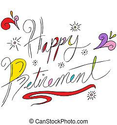 ευτυχισμένος , συνταξιοδότηση , εδάφιο