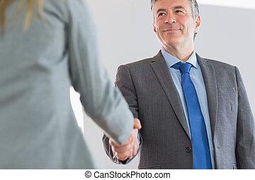ευτυχισμένος , χέρι , επιχειρηματίας , κλονισμός