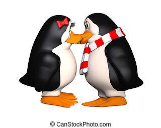 ευτυχισμένος , pinguins, ερωτευμένα