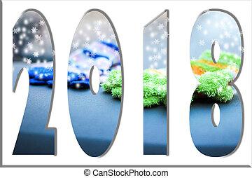 ευτυχισμένο το νέο έτος , 2108, φόντο