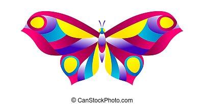 ευφυής , γραφικός , insect., αφαιρώ , butterfly.