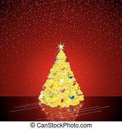 ευφυής , δέντρο , xριστούγεννα , φόντο