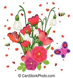ευφυής , λουλούδια , άνοιξη