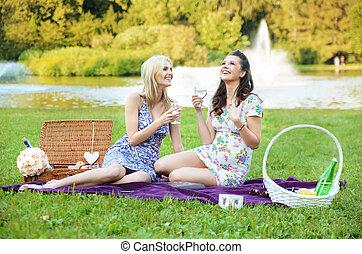 ευχάριστος , πάρκο , απόγευμα