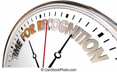 ευχαριστώ , αναγνώριση , ρολόι , εκτίμηση , ώρα , εσείs , εικόνα , 3d