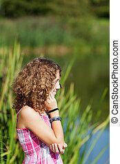 εφηβικής ηλικίας δεσποινάριο , λίμνη