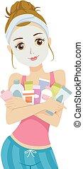 εφηβική ηλικία δεσποινάριο , προϊόντα , ομορφιά , εικόνα
