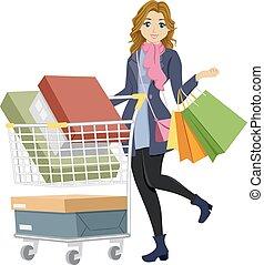 εφηβική ηλικία δεσποινάριο , ψώνια