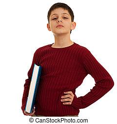 εφηβική ηλικία , ηλίθιος , βιβλίο , κράτημα , διανοούμενος
