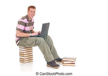 εφηβική ηλικία , laptop , σπουδαστής , εργαζόμενος