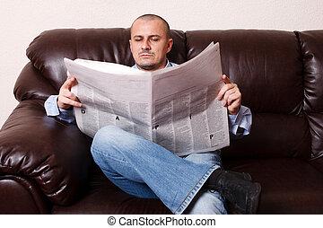 εφημερίδα , νέοs άντραs