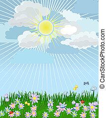 εύχυμος , λουλούδια , γρασίδι