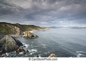 ζάλισμα , clifftops, galicia , ισπανία
