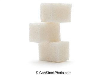 ζάχαρη άχνη, φόντο , απομονωμένος , άσπρο