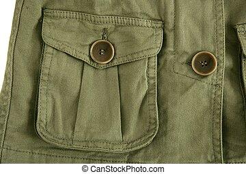 ζακέτα , μόδα , εμπνευσμένος , λεπτομέρεια , τσέπη , πράσινο...