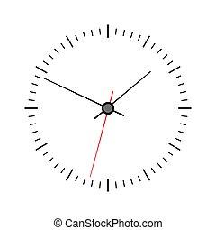 ζεσεεδ , ρολόι , φόντο , απομονωμένος , άσπρο , μικροβιοφορέας