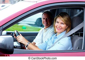 ζευγάρι , άμαξα αυτοκίνητο. , αρχαιότερος , ευτυχισμένος