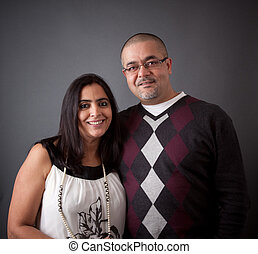 ζευγάρι , ανατολή ινδιάνικος , ευτυχισμένος