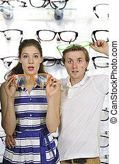 ζευγάρι , ανόητος , γυαλιά
