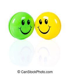 ζευγάρι , από , γραφικός , smileys