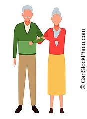 ζευγάρι , γριά , avatars