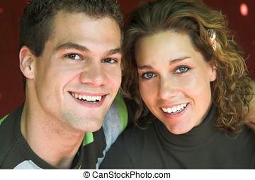 ζευγάρι , νέος , ευτυχισμένος