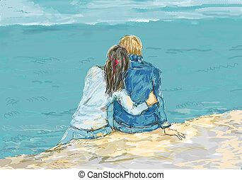ζευγάρι , νέος , ονειρεύομαι